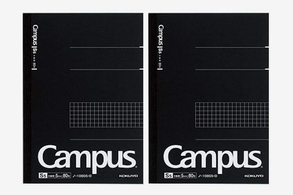 Kokuyo Campus Pre-Dotted Notebook, Semi A5, 5mm Grid Ruled - 80 Sheets