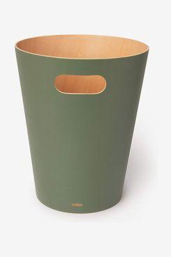 Umbra Woodrow Modern Wooden Trash Can