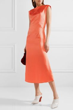 Tome Washed Satin Midi Dress