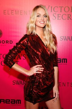 Model Lindsay Ellingson attends the 2011 Victoria's Secret Fashion Show.