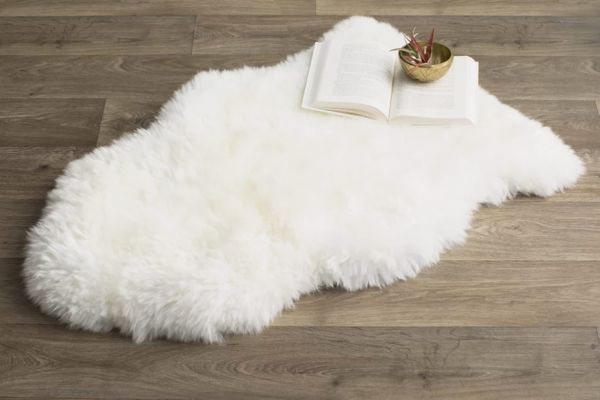 Langley Street Allison Hand-Woven Faux Sheepskin Rug