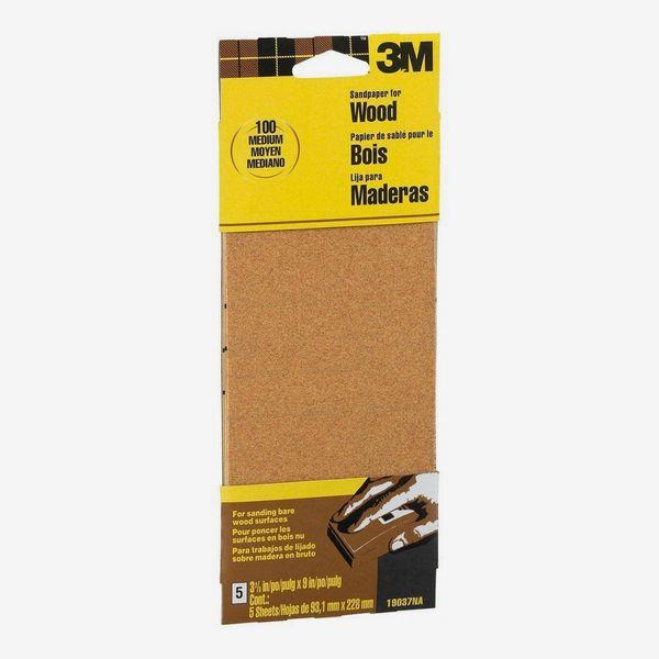 3M Garnet 3-2/3 in. x 9 in. 100 Grit Medium Grade Sand Paper