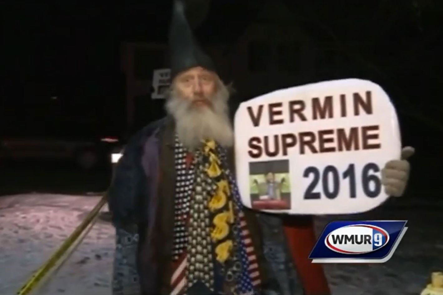 9d6e59f7923 Vermin Supreme Forced to Wait Outside in the Cold During Lesser-Known  Candidates Forum
