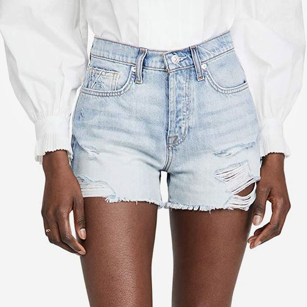 7 For All Mankind Women's Monroe Cut Off Shorts