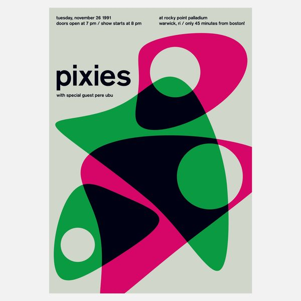 "Swissted ""Pixies at Rockpoint Palladium, 1991"" Print"