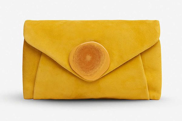LK Bennett Olivia Suede Envelope Clutch