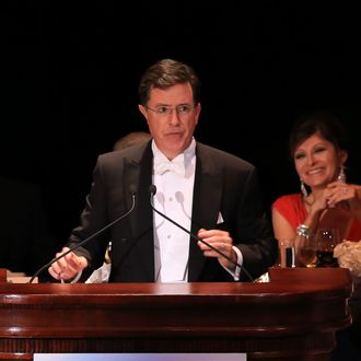 Stephen Colbert attends the 68th Annual Alfred E. Smith Memorial Foundation Dinner at The Waldorf Astoria Hotel on October 17, 2013 in New York City.