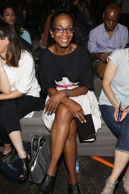 NEW YORK, NY - SEPTEMBER 10:  Robin Givhan attends the Marc By Marc Jacobs fashion show during Mercedes-Benz Fashion Week Spring 2014 at Pier 57 on September 10, 2013 in New York City.  (Photo by Astrid Stawiarz/Getty Images)