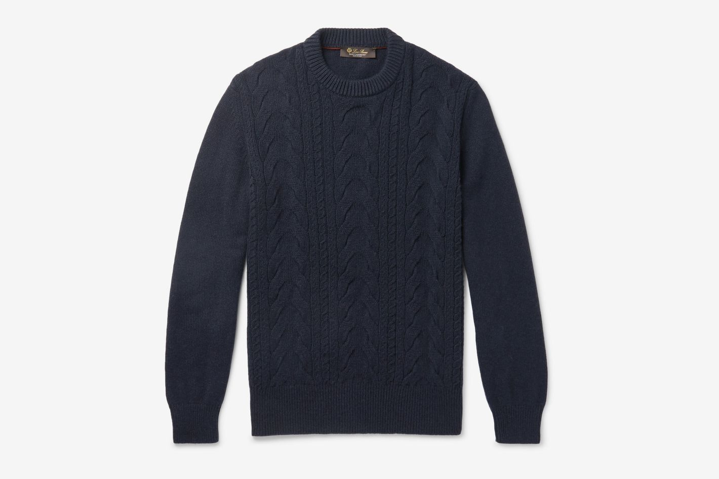 Loro Piana Cable-Knit Baby Cashmere Sweater