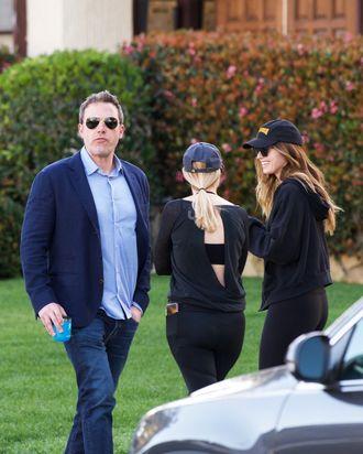 Ben Affleck and (far right) Katherine Schwarzenegger.