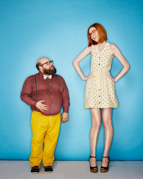 Short person dating tall person