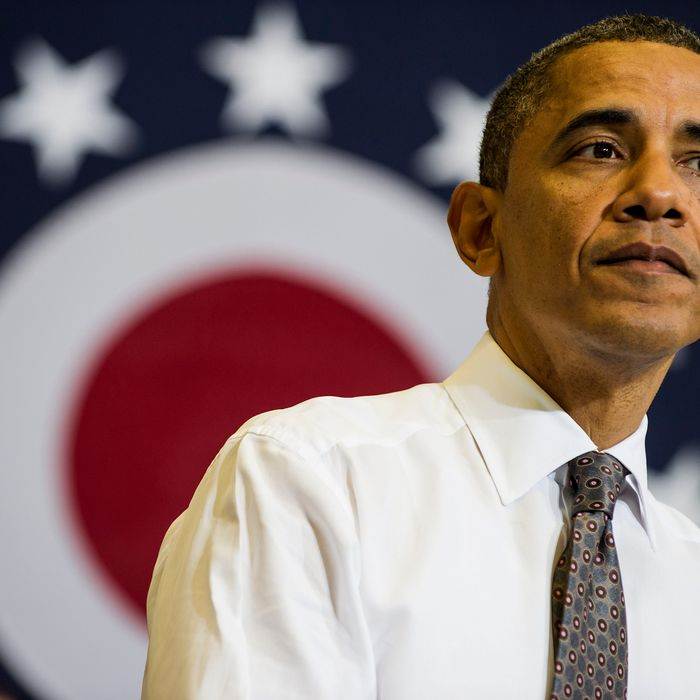 US President Barack Obama speaks at Lorain County Community College on April, 18, 2012 in Elyria, Ohio. President Obama traveled to the college to attend a round table discussion and deliver a speech about the economy while traveling to the area to also attend campaign events.