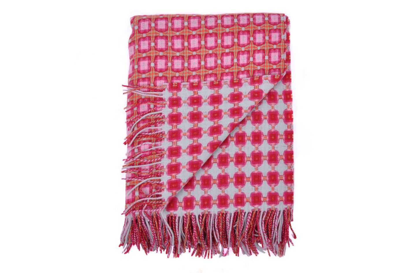 Paulette Rollo Lambswool Basket Weave Throw
