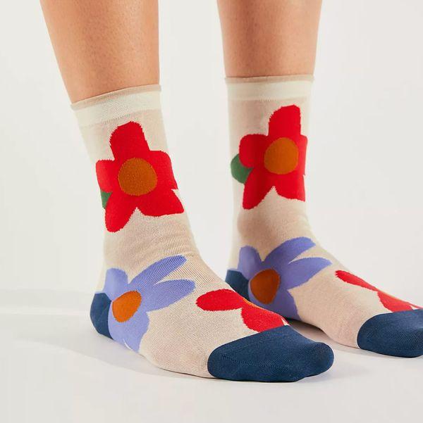 Hansel From Basel Ethel Floral Crew Socks