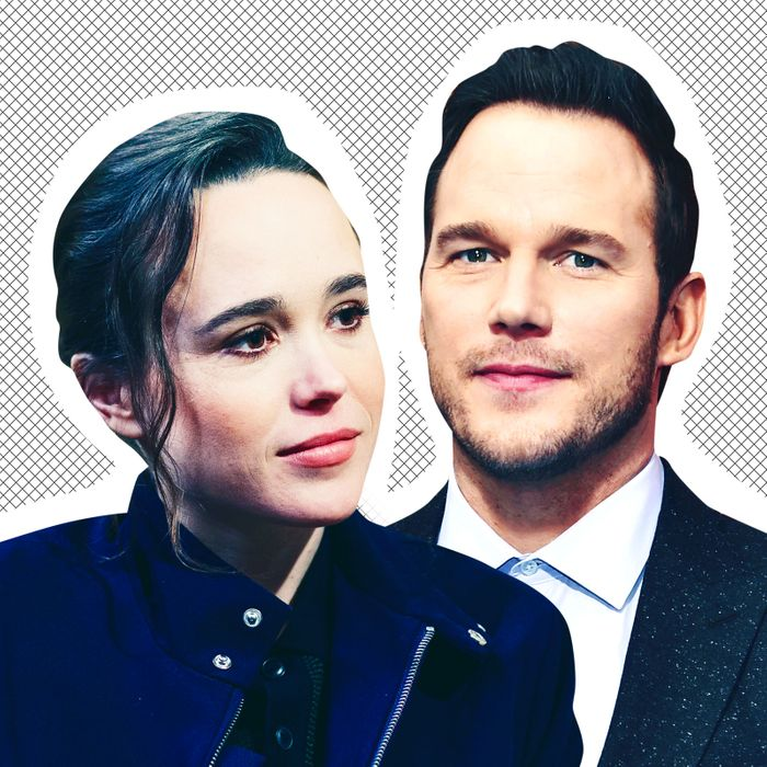 Ellen Page, Chris Pratt.