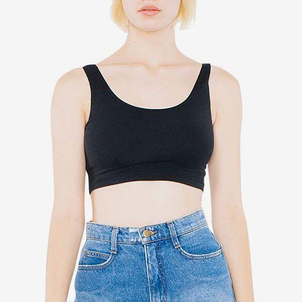 American Apparel Women's Cotton Spandex Sleeveless Crop Tank