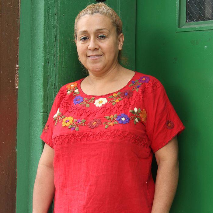 Denisse Lina Chavez outside her new restaurant.
