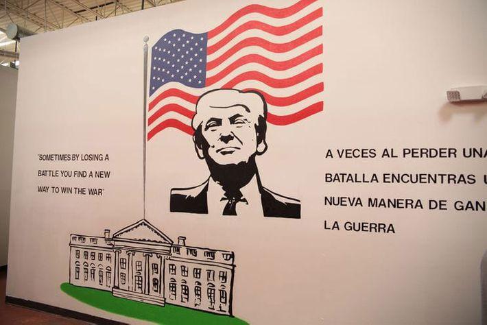 Mural of President Trump.