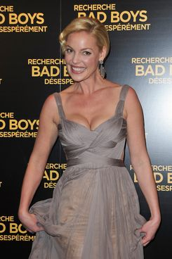"Katherine Heigl attends the Paris Premiere of ""One For The Money"" film at Cinema Gaumont Marignan on January 31, 2012 in Paris, France."