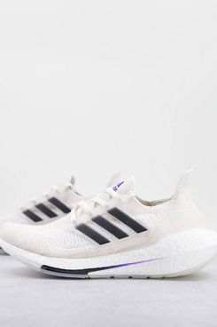 adidas Running Ultraboost 21 Prime trainers in white