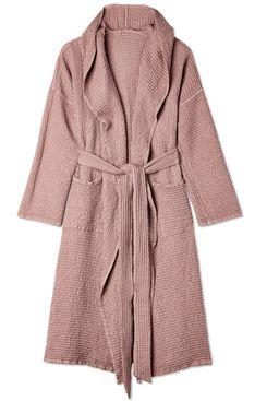 MagicLinen Hooded Cotton Waffle Robe