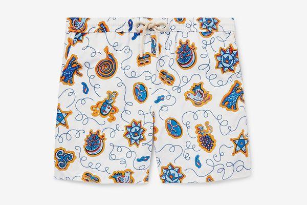 Loewe + Paula's Ibiza Mid-Length Printed Swim Shorts