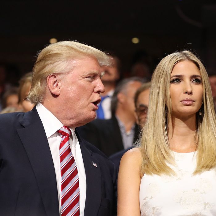 Donald and Ivanka Trump.