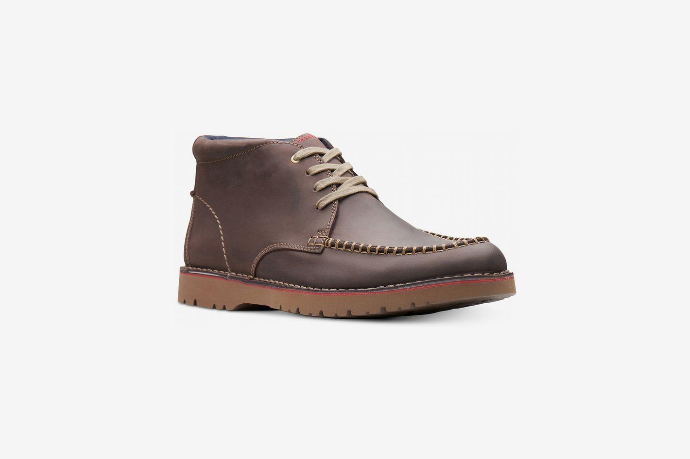 Clarks Men's Vargo Apron-Toe Leather Chukka Boots, Created for Macy's