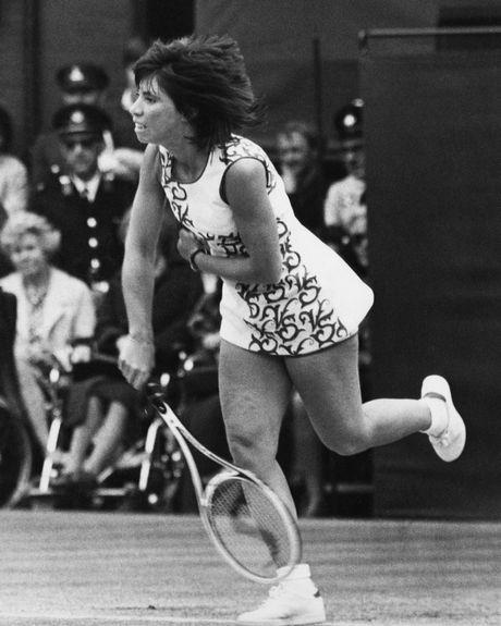 Rosemary Casals at Wimbledon.