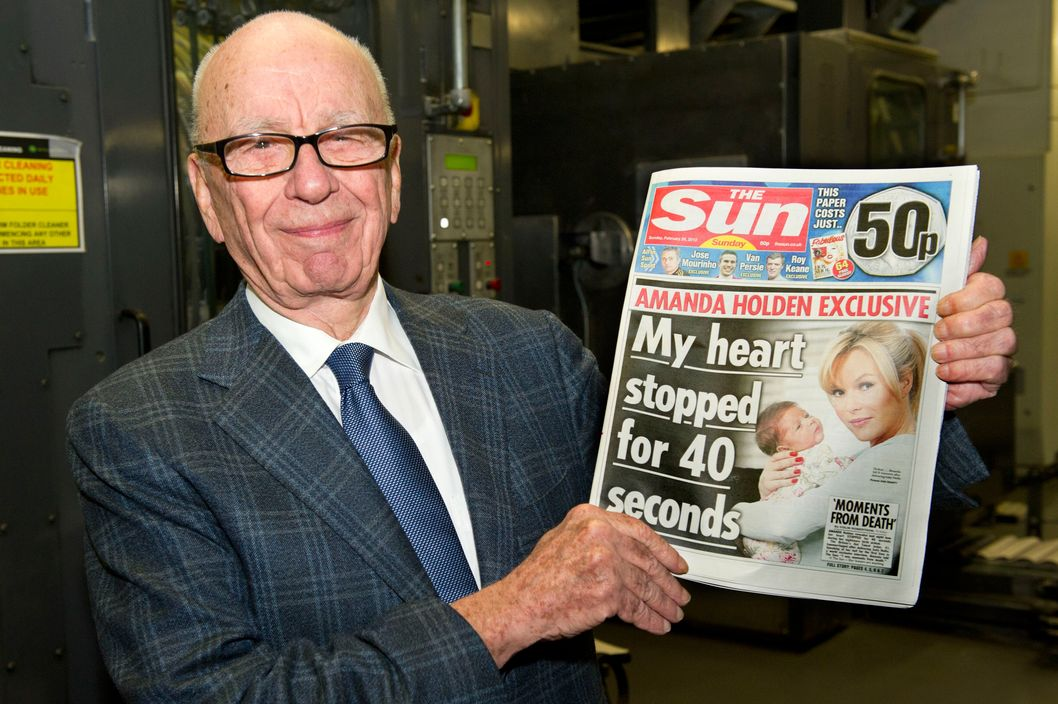 Rupert Murdoch shows off the less profitable half of his empire.