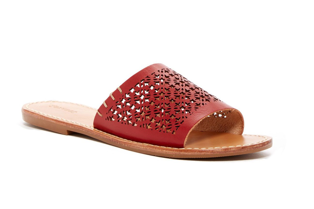 Soludos Perforated Open Toe Slide Sandal