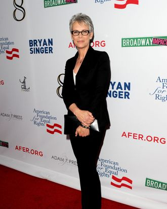 LOS ANGELES, CA - MARCH 03: Actress Jamie Lee Curtis attends the one-night reading of