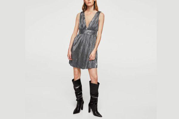 Mango Metallic Dress