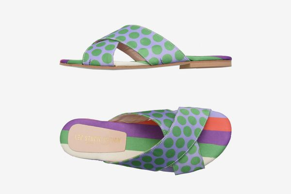Leo Studio Design Satin Criss-Cross Sandals
