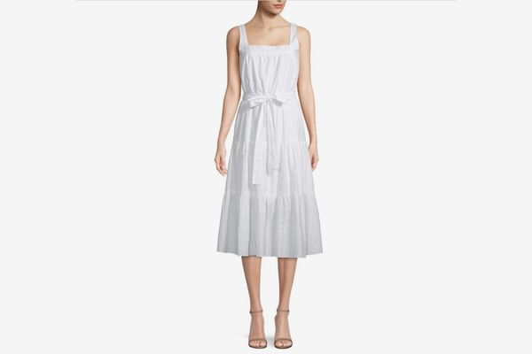 Michael by Michael Kors Tiered Midi Dress