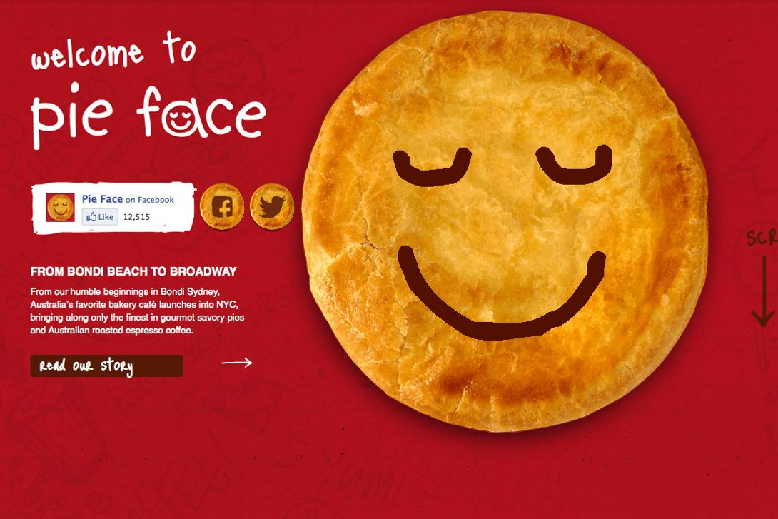 When Aussie pies are smiling.