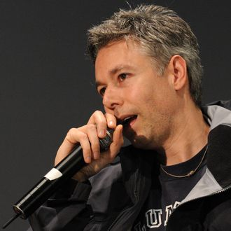 Filmmaker and recording artist Adam Yauch speaks onstage at the Apple Soho store on May 2, 2008 in New York City. Rapper Adam Yauch, AKA MCA, of the Beastie Boys has died May 4, 2012 after battling cancer. He was 47.