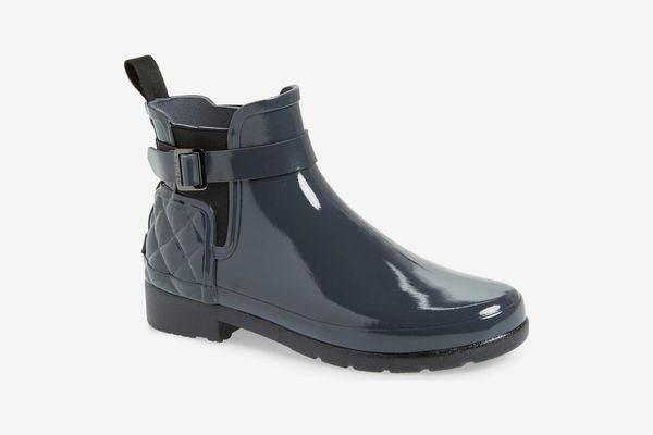 Hunter Original Refined Quilted Gloss Chelsea Waterproof Boot