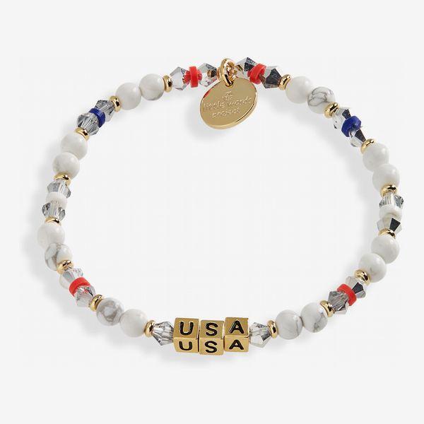 Little Words Project Team USA Stretch Bracelet