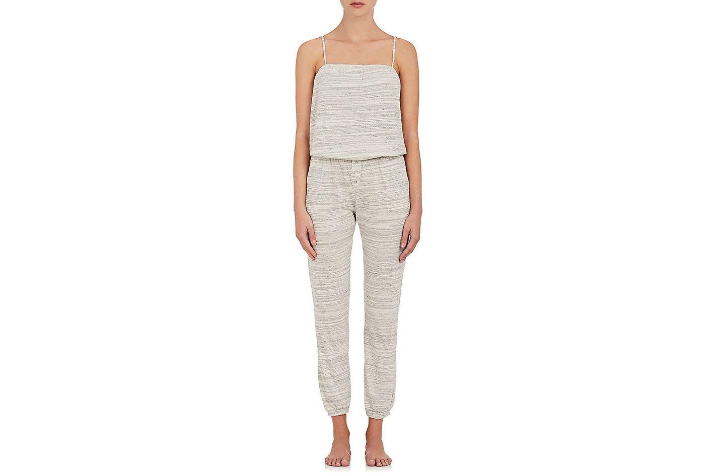Eberjey Alex Mélange Stretch-Cotton Jersey Jumpsuit