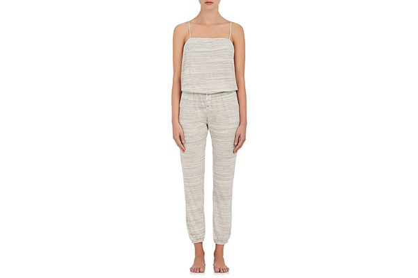 Eberjey Alex Mélange Stretch-Cotton Jersey Jumpsuit