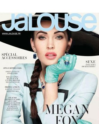 Megan Fox's April 2012 <em>Jalouse</em> cover.