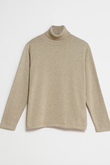 nu-in 100% Recycled Mock Neck Long Sleeve Top