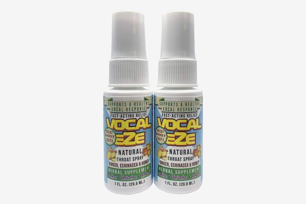 Herbal Throat Spray Professional Strength Vocal Eze, With Honey, Aloe, Echinacea, Ginger