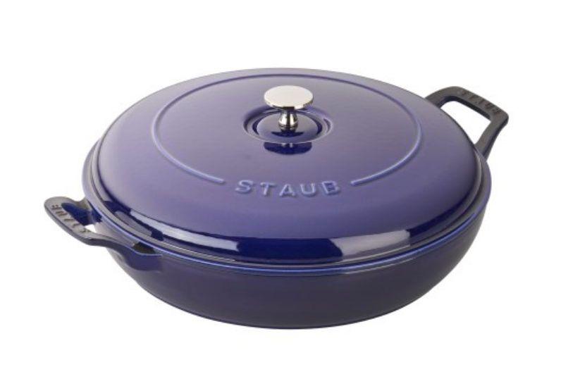 Staub Cast Iron 3.75-Quart Braiser — Dark Blue