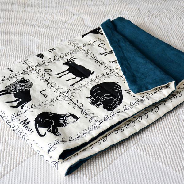Amelie Mancini Animal Alphabet Quilt Blanket