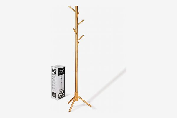 ZOBER Wooden Coat Rack Stand