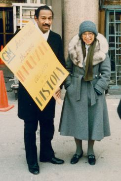 U.S. Congressman John Conyers Jr. and Rosa Parks.