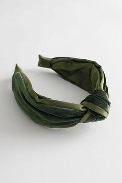 & Other Stories Velvet Knot Alice Headband