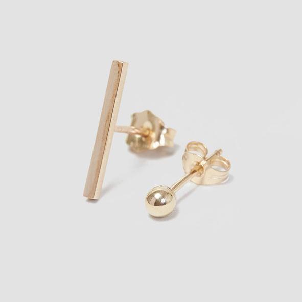 Alice Eden Dot Dash Stud Earrings